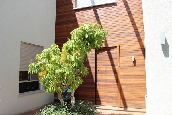 חיפוי קיר וחיפוי דלת מעץ איפאה
