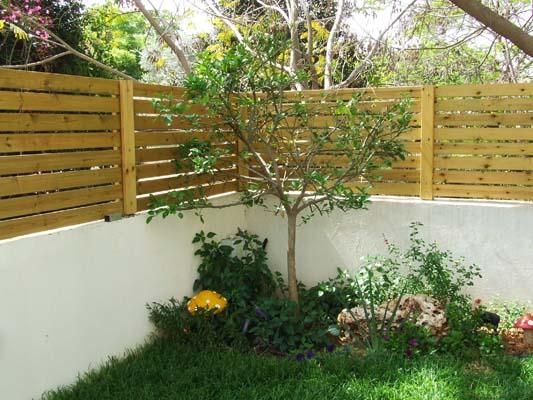 גדרות לוחות עץ אורן בצבע טבעי